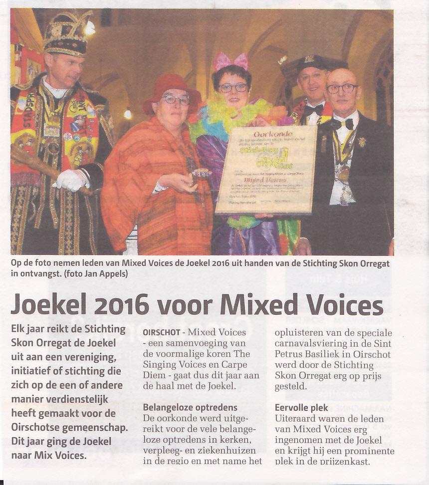 Carnaval 2016 De Joekel